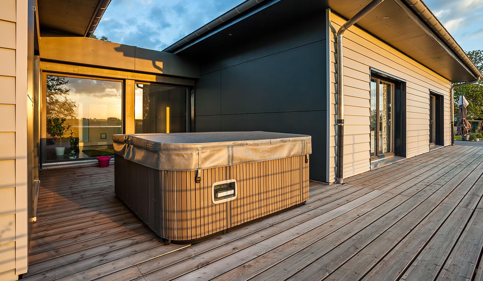 Maison bois 70m2 elegant idee modele de maison moderne for Maison moderne 70m2