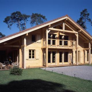 Chalet bois massif à Sciez (74)