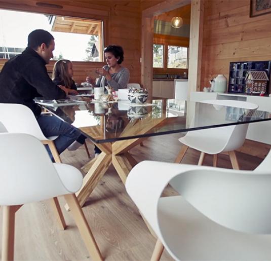 Construction d'une maison en bois à Hautecour / Clairvaux-les-Lacs dans le Jura (39)