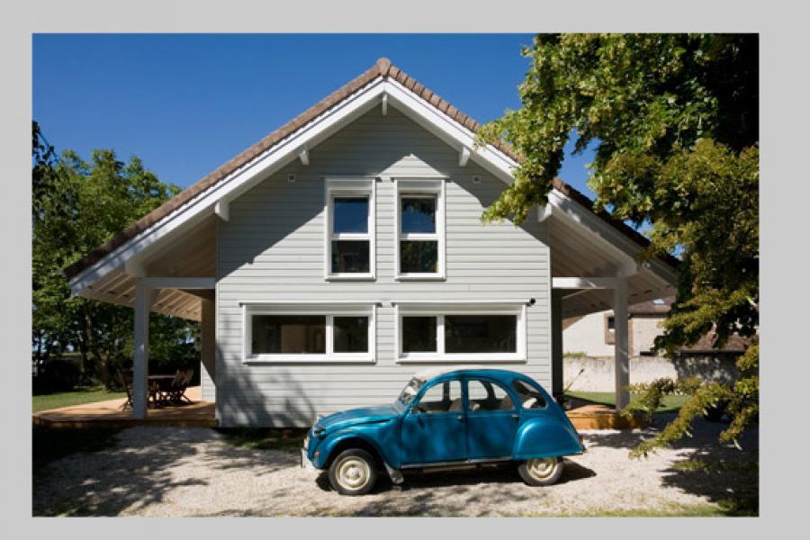 Maison bois à Villebeon (77)