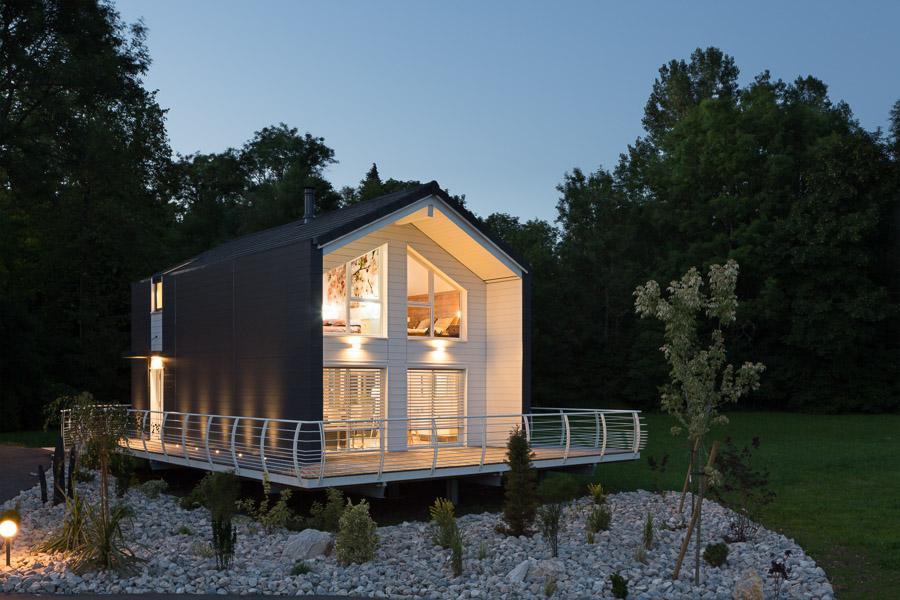 Maison bois à Mont-Sous-Vaudrey (39)