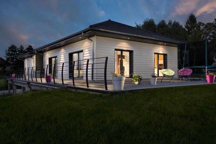 Maison bois à Buvilly (39)